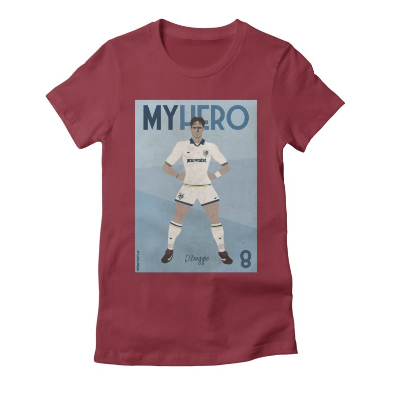Dino Baggio My Hero Vintage Edition Women's Fitted T-Shirt by ZEROSTILE'S ARTIST SHOP