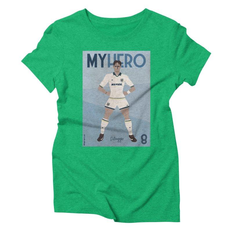 Dino Baggio My Hero Vintage Edition Women's Triblend T-shirt by ZEROSTILE'S ARTIST SHOP