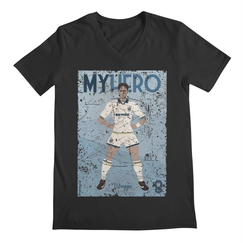 Dino Baggio My Hero Grunge Edition Men's V-Neck by ZEROSTILE'S ARTIST SHOP