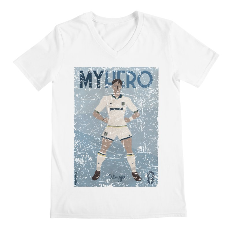 Dino Baggio My Hero Grunge Edition Men's V-Neck by ZEROSTILE'S ARTIST SHOP