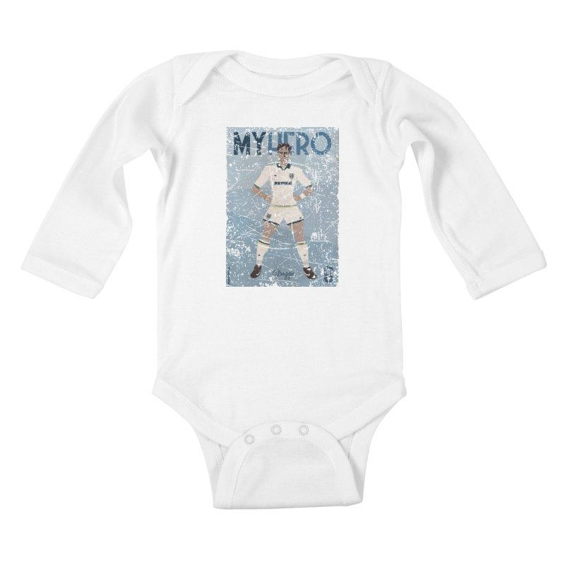 Dino Baggio My Hero Grunge Edition Kids Baby Longsleeve Bodysuit by ZEROSTILE'S ARTIST SHOP