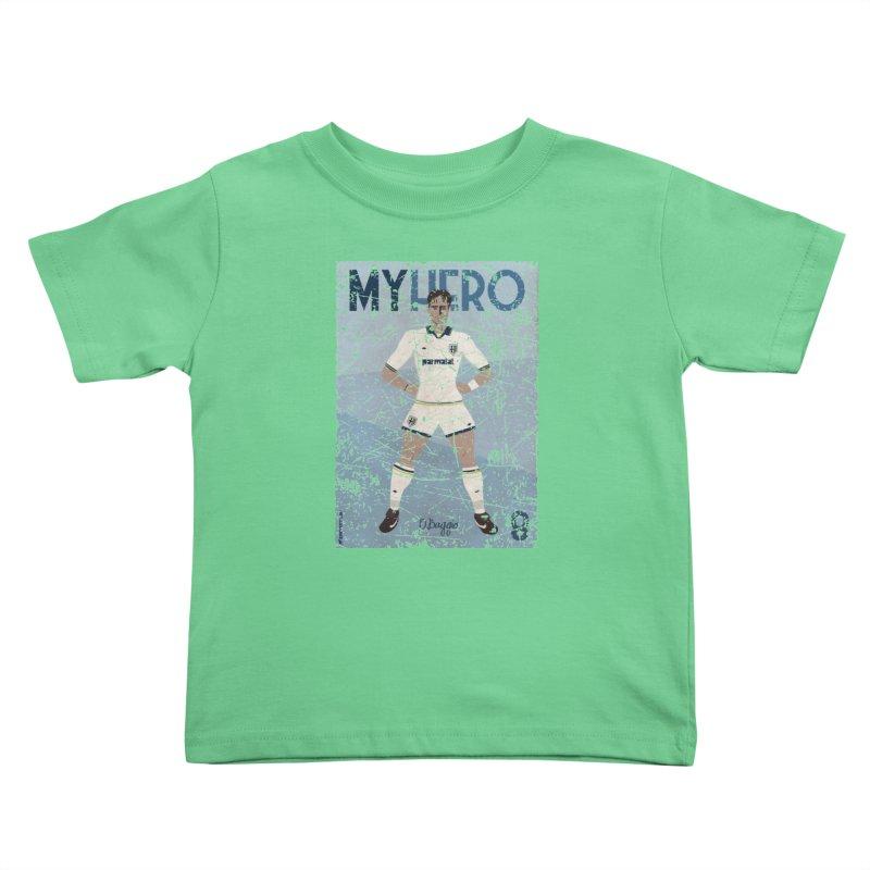 Dino Baggio My Hero Grunge Edition Kids Toddler T-Shirt by ZEROSTILE'S ARTIST SHOP