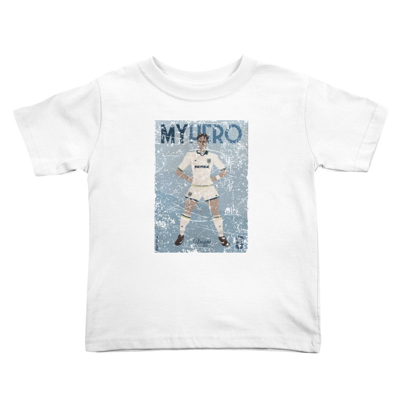 Dino Baggio My Hero Grunge Edition Kids Toddler T-Shirt by ZEROSTILE'S ARTIST SHOP
