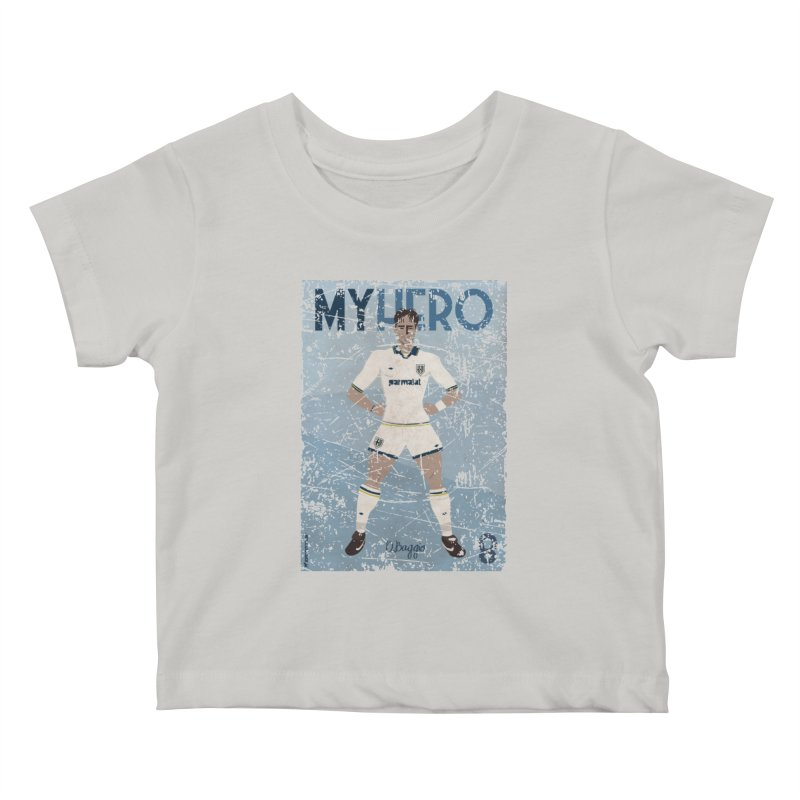 Dino Baggio My Hero Grunge Edition Kids Baby T-Shirt by ZEROSTILE'S ARTIST SHOP