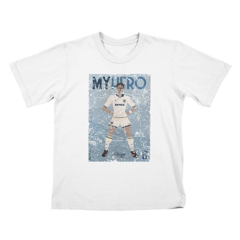 Dino Baggio My Hero Grunge Edition Kids T-Shirt by ZEROSTILE'S ARTIST SHOP