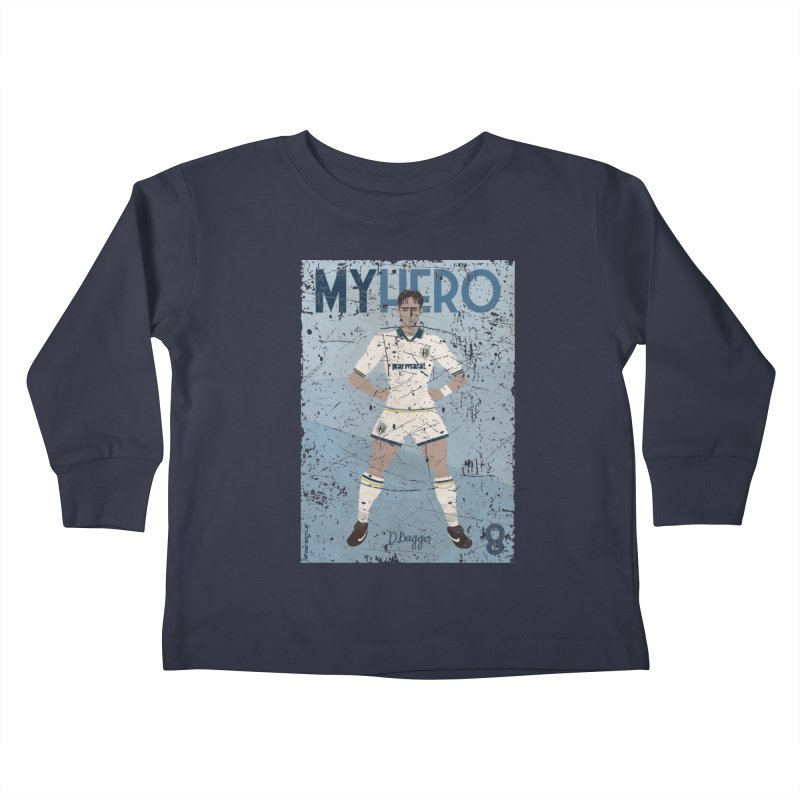Dino Baggio My Hero Grunge Edition Kids Toddler Longsleeve T-Shirt by ZEROSTILE'S ARTIST SHOP
