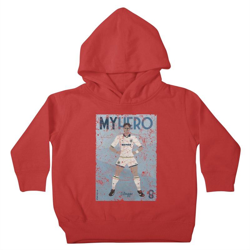 Dino Baggio My Hero Grunge Edition Kids Toddler Pullover Hoody by ZEROSTILE'S ARTIST SHOP