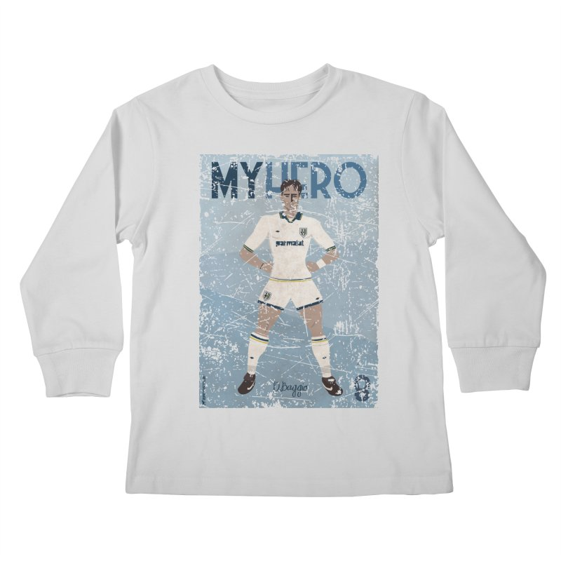 Dino Baggio My Hero Grunge Edition Kids Longsleeve T-Shirt by ZEROSTILE'S ARTIST SHOP