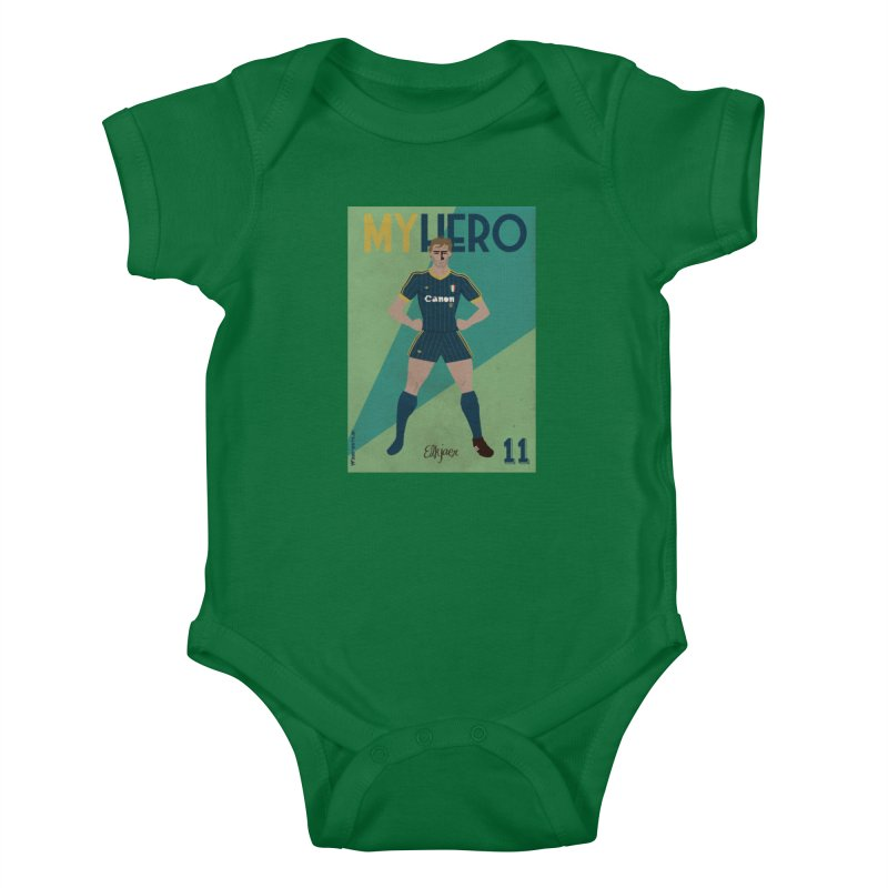 Elkjaer My Hero Vintage Edition Kids Baby Bodysuit by ZEROSTILE'S ARTIST SHOP