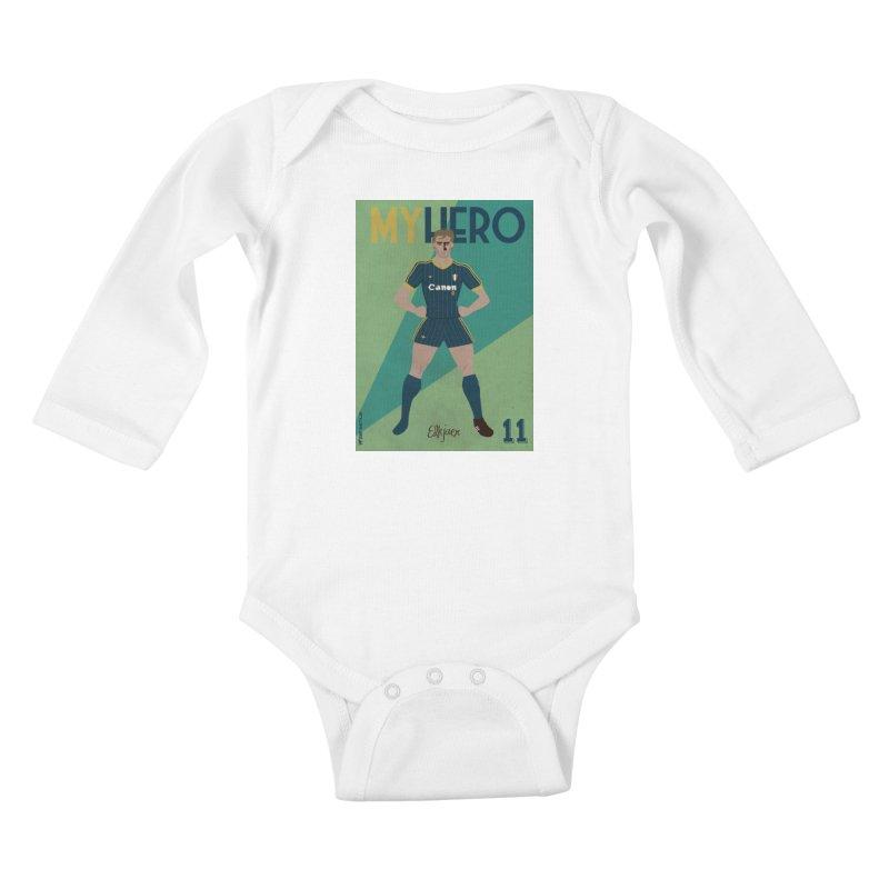 Elkjaer My Hero Vintage Edition Kids Baby Longsleeve Bodysuit by ZEROSTILE'S ARTIST SHOP