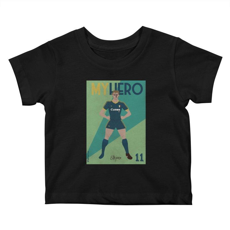 Elkjaer My Hero Vintage Edition Kids Baby T-Shirt by ZEROSTILE'S ARTIST SHOP
