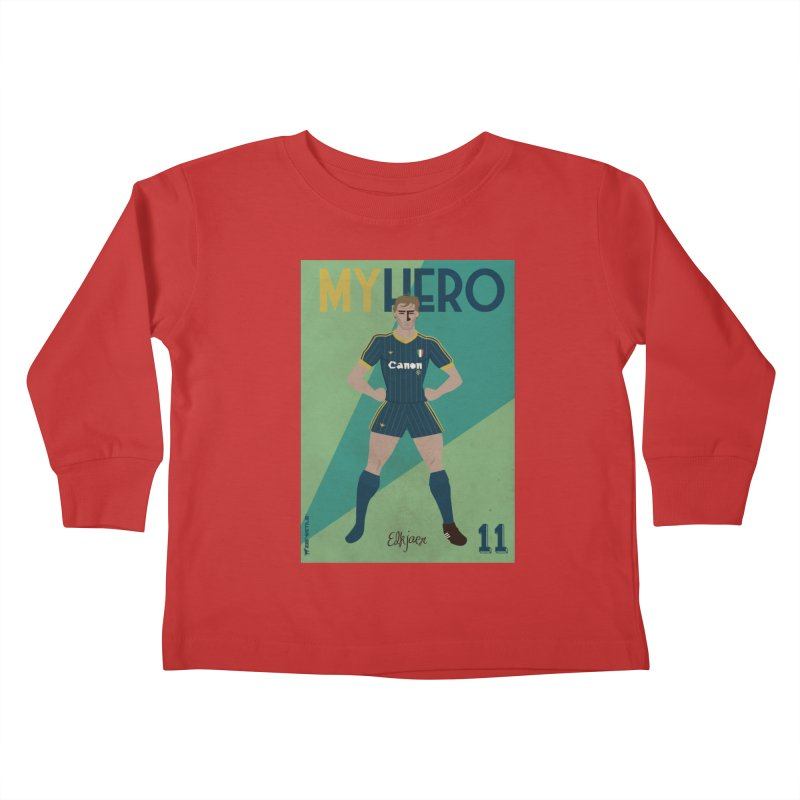 Elkjaer My Hero Vintage Edition Kids Toddler Longsleeve T-Shirt by ZEROSTILE'S ARTIST SHOP