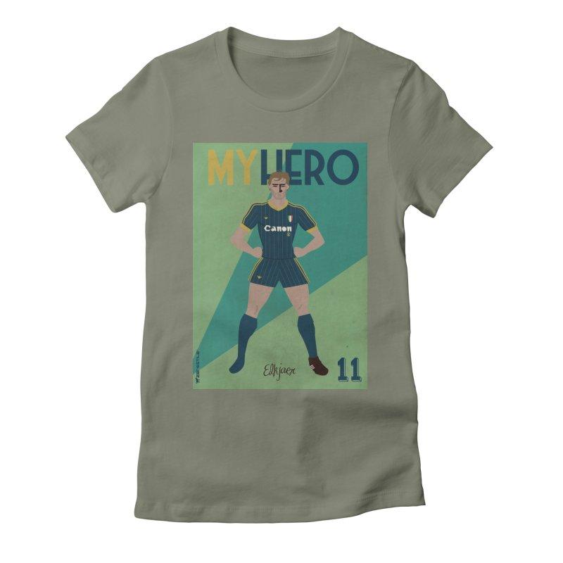 Elkjaer My Hero Vintage Edition Women's Fitted T-Shirt by ZEROSTILE'S ARTIST SHOP