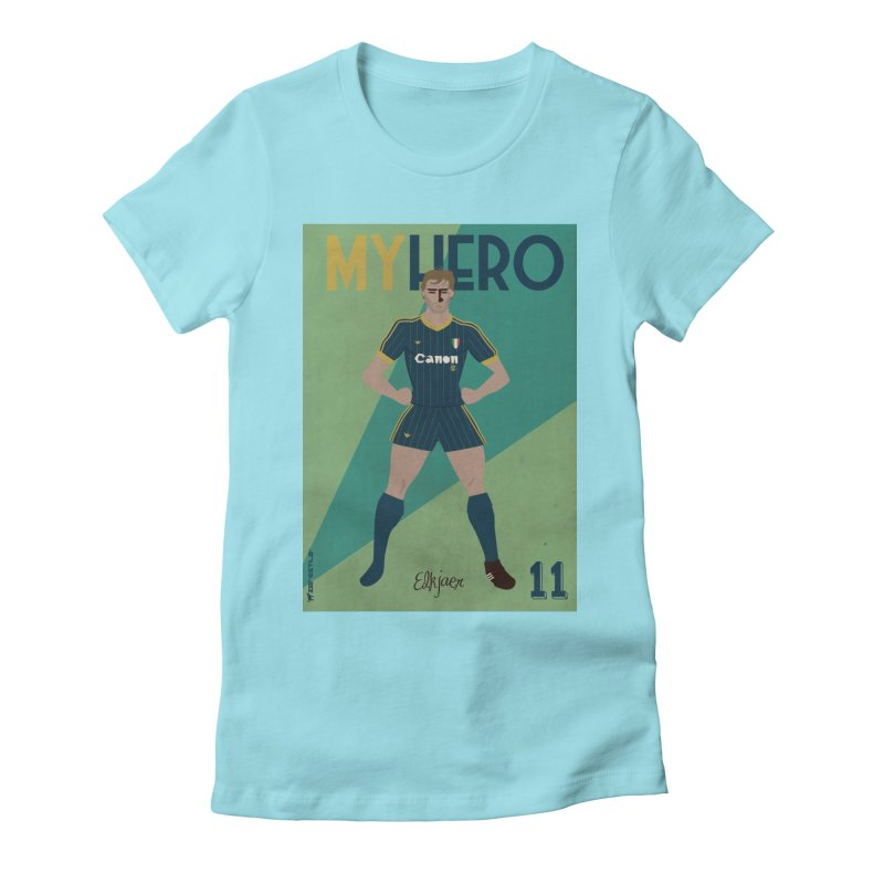 Elkjaer My Hero Vintage Edition Women's Fitted T-Shirt by ZEROSTILE'S ARTIST SHOP