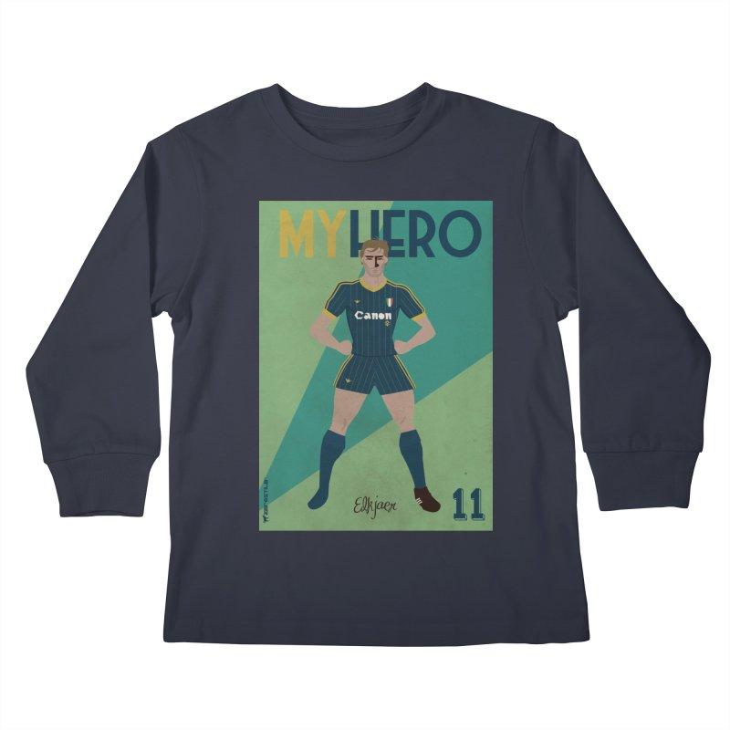 Elkjaer My Hero Vintage Edition Kids Longsleeve T-Shirt by ZEROSTILE'S ARTIST SHOP