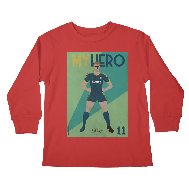 Elkjaer My Hero Vintage Edition Kids Longsleeve T-Shirt by ZEROSTILE'S ARTIST SHOP