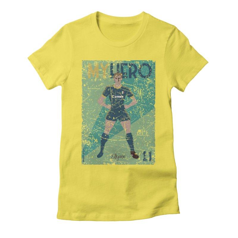 Elkjaer My Hero Grunge Edition Women's Fitted T-Shirt by ZEROSTILE'S ARTIST SHOP