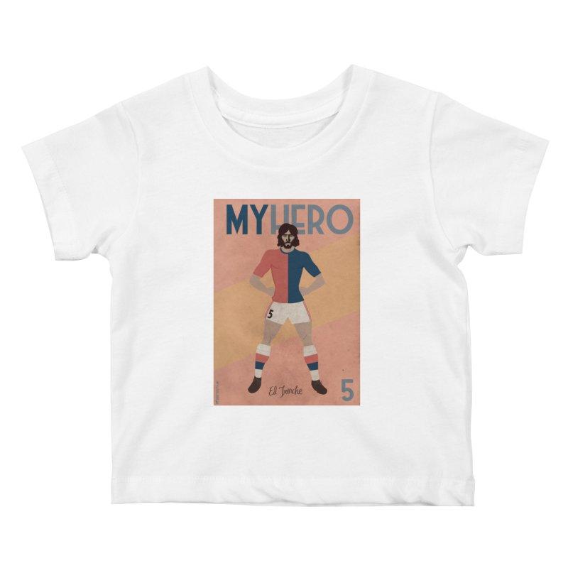 Carlovich EL TRINCHE My hero Vintage Edition Kids Baby T-Shirt by ZEROSTILE'S ARTIST SHOP