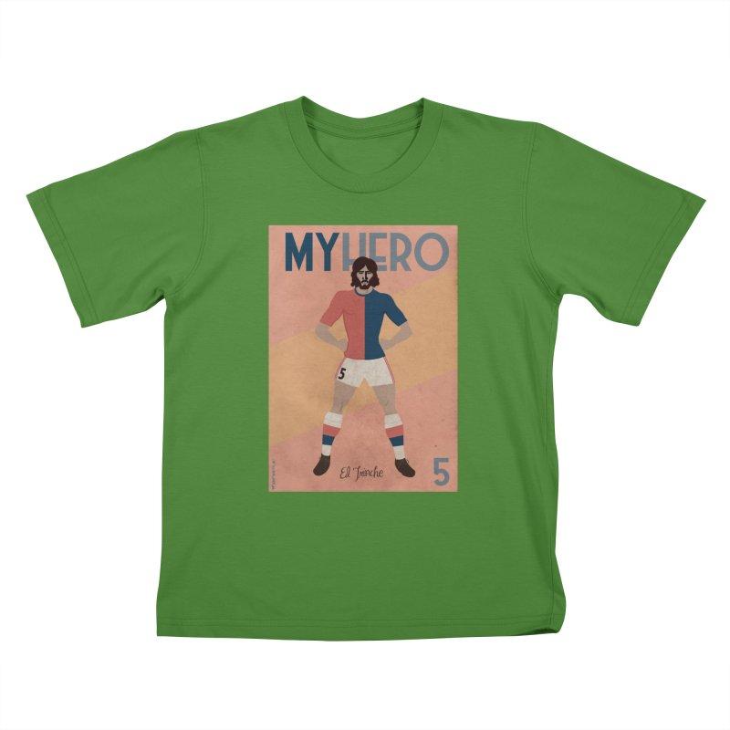 Carlovich EL TRINCHE My hero Vintage Edition Kids T-shirt by ZEROSTILE'S ARTIST SHOP