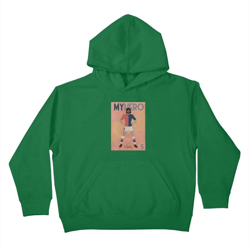 Carlovich EL TRINCHE My hero Vintage Edition Kids Pullover Hoody by ZEROSTILE'S ARTIST SHOP