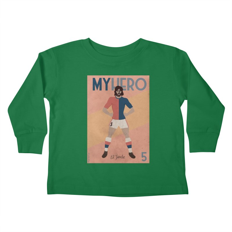 Carlovich EL TRINCHE My hero Vintage Edition Kids Toddler Longsleeve T-Shirt by ZEROSTILE'S ARTIST SHOP