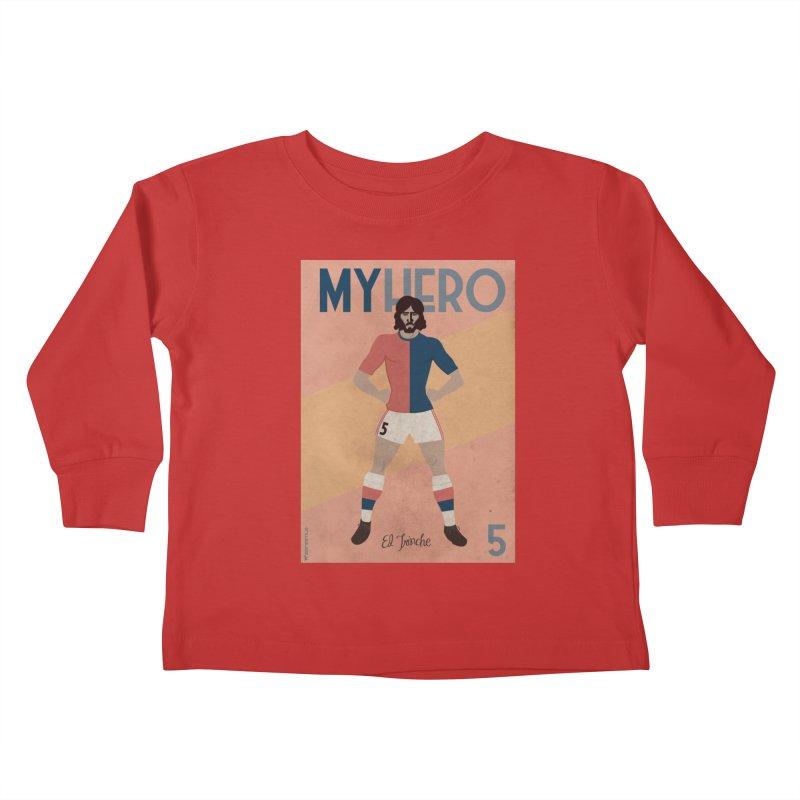 Carlovich EL TRINCHE My hero Vintage Edition Kids Toddler Longsleeve T-Shirt by ZEROSTILE'S ARTIST SHOP