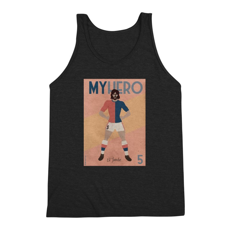 Carlovich EL TRINCHE My hero Vintage Edition Men's Triblend Tank by ZEROSTILE'S ARTIST SHOP