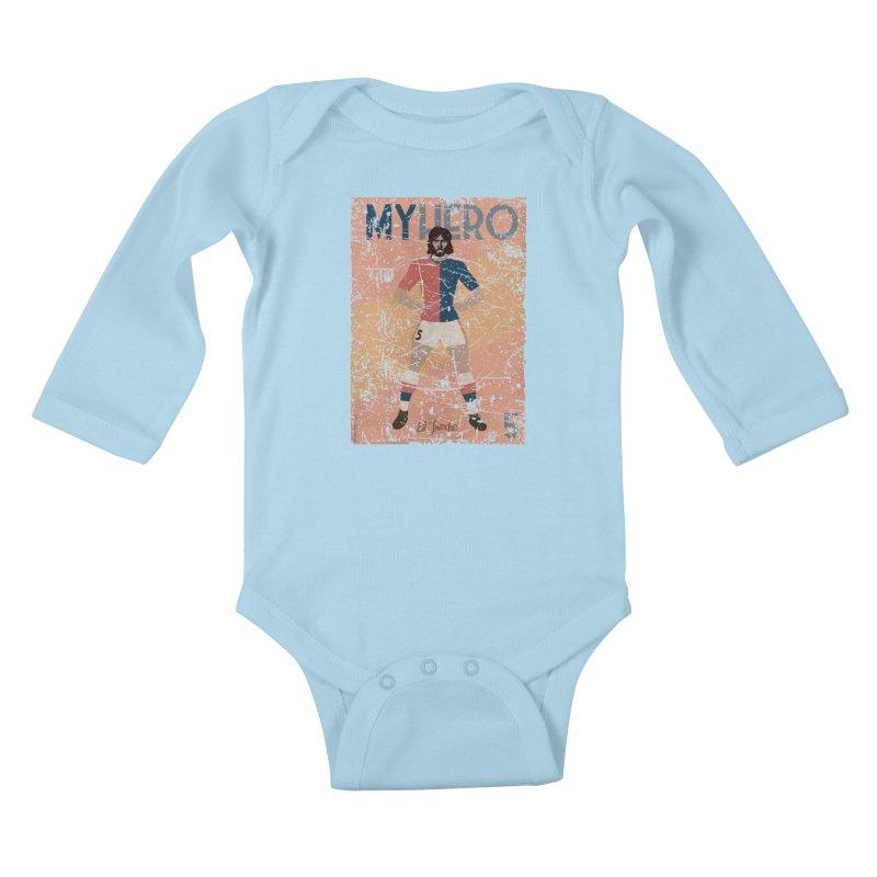 Carlovich El TRINCHE My Hero Grunge Edition Kids Baby Longsleeve Bodysuit by ZEROSTILE'S ARTIST SHOP