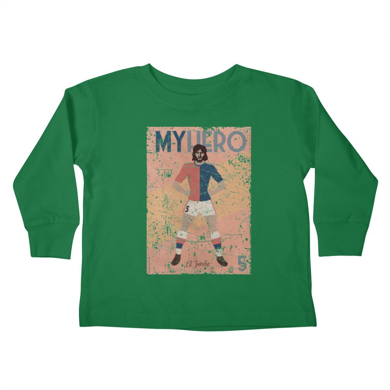 Carlovich El TRINCHE My Hero Grunge Edition Kids Toddler Longsleeve T-Shirt by ZEROSTILE'S ARTIST SHOP