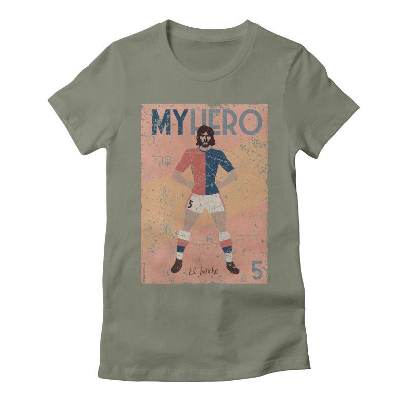 Carlovich El TRINCHE My Hero Grunge Edition Women's Fitted T-Shirt by ZEROSTILE'S ARTIST SHOP