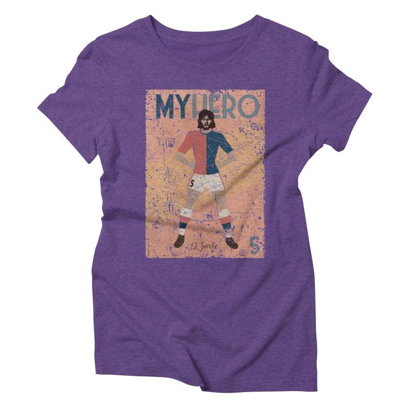 Carlovich El TRINCHE My Hero Grunge Edition Women's Triblend T-Shirt by ZEROSTILE'S ARTIST SHOP
