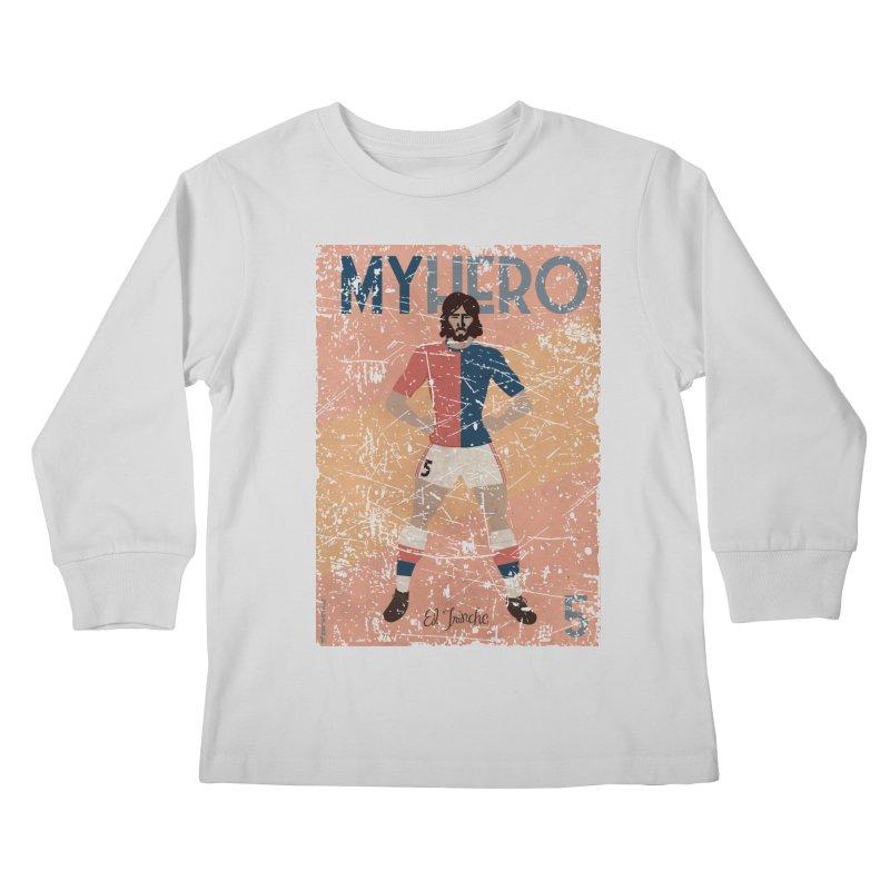 Carlovich El TRINCHE My Hero Grunge Edition Kids Longsleeve T-Shirt by ZEROSTILE'S ARTIST SHOP