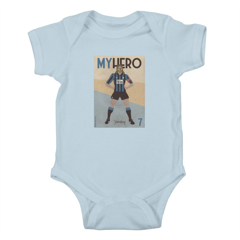 Stromberg My hero Vintage Edition Kids Baby Bodysuit by ZEROSTILE'S ARTIST SHOP
