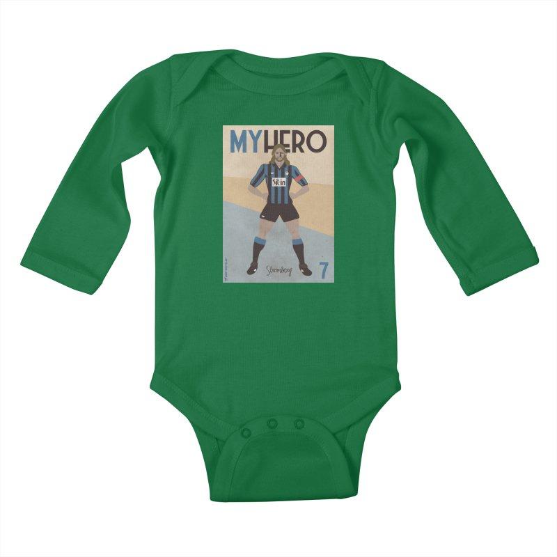 Stromberg My hero Vintage Edition Kids Baby Longsleeve Bodysuit by ZEROSTILE'S ARTIST SHOP