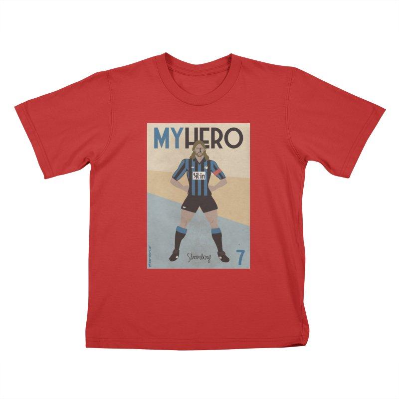 Stromberg My hero Vintage Edition Kids T-Shirt by ZEROSTILE'S ARTIST SHOP