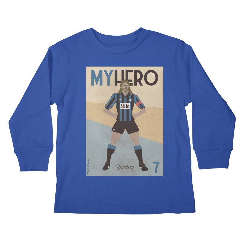 Stromberg My hero Vintage Edition Kids Longsleeve T-Shirt by ZEROSTILE'S ARTIST SHOP