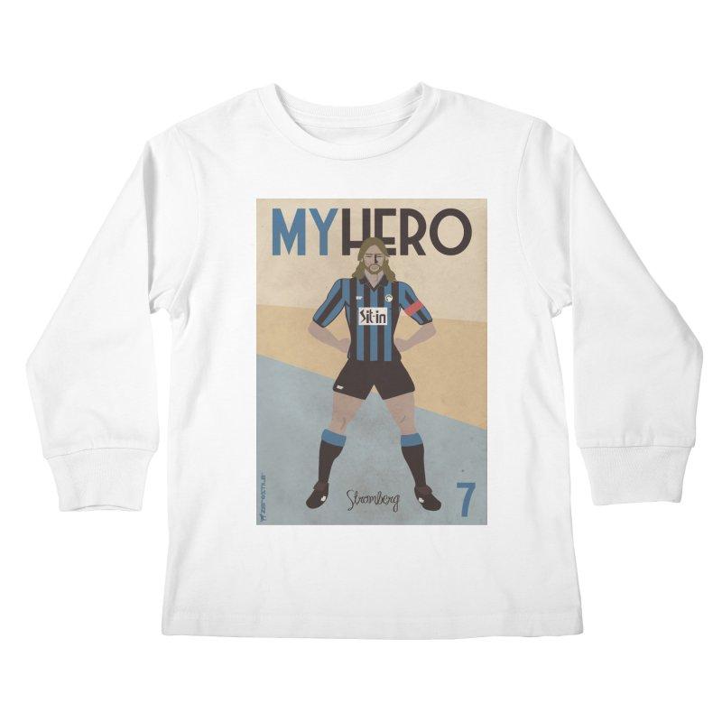Stromberg My hero Vintage Edition Kids Longsleeve T-Shirt by ZEROSTILE'S ARTIST SHOP