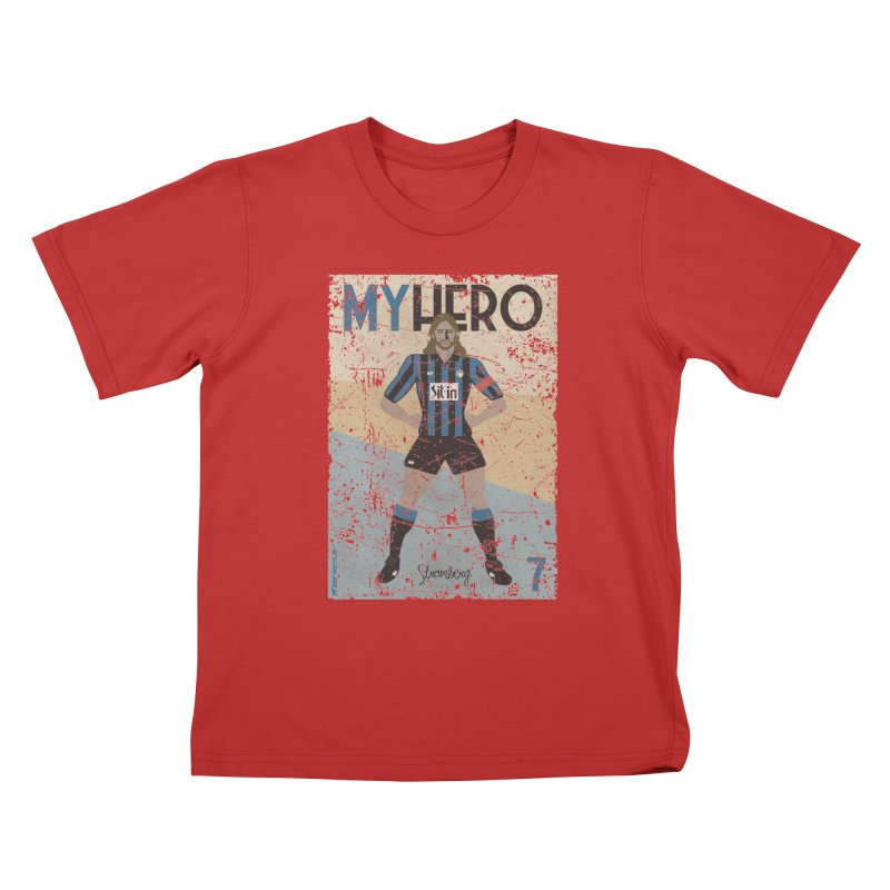 Stromberg My hero Grunge Edition Kids T-shirt by ZEROSTILE'S ARTIST SHOP