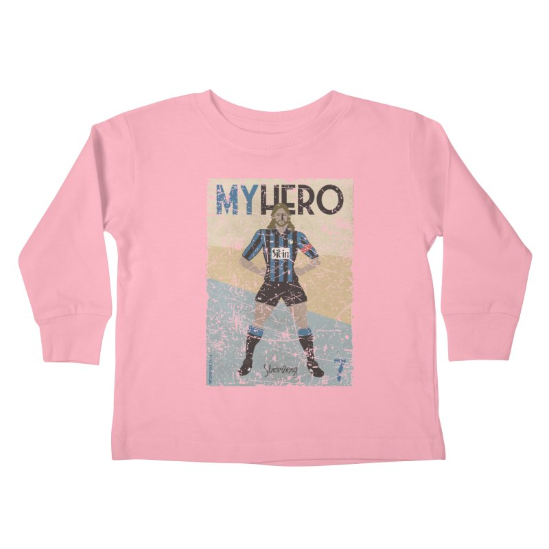 Stromberg My hero Grunge Edition Kids Toddler Longsleeve T-Shirt by ZEROSTILE'S ARTIST SHOP
