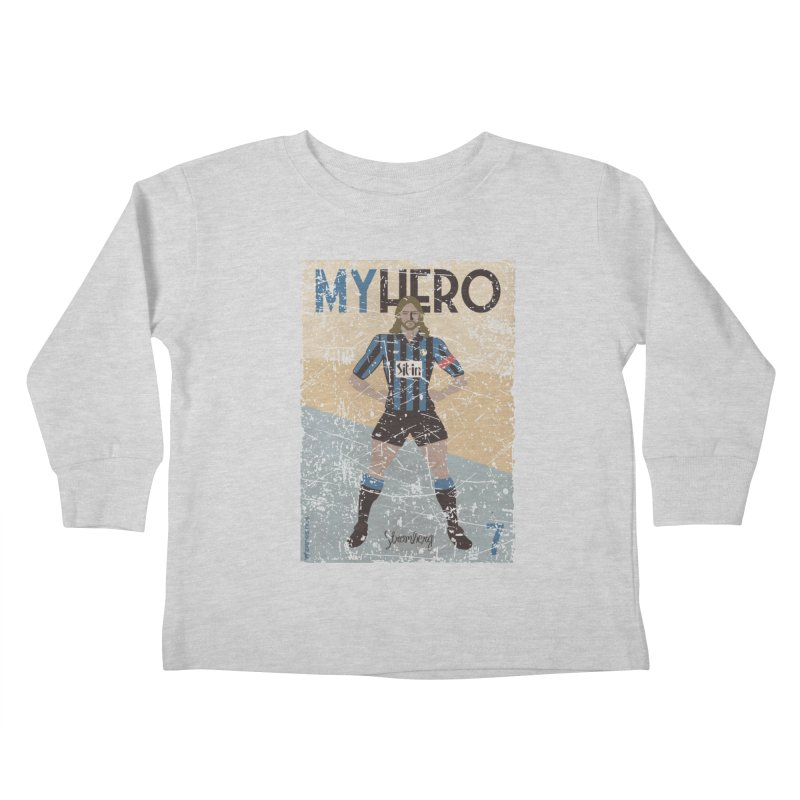 Stromberg My hero Grunge Edition Kids Toddler Longsleeve T-Shirt by ZEROSTILE'S ARTIST SHOP