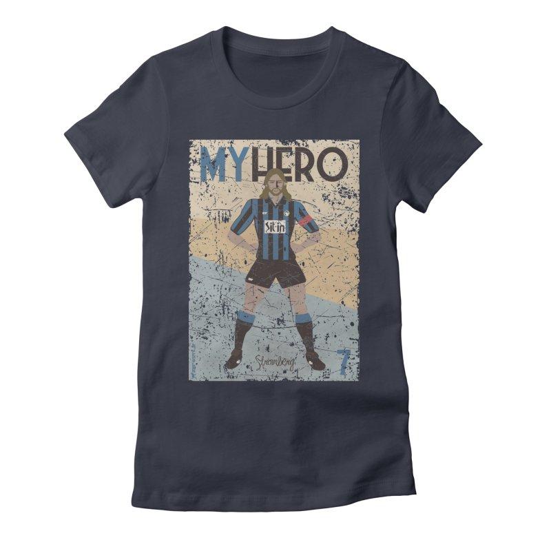 Stromberg My hero Grunge Edition Women's Fitted T-Shirt by ZEROSTILE'S ARTIST SHOP