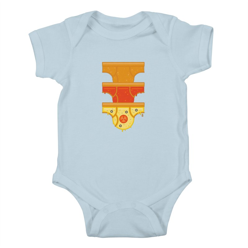 Better Than Pizza Kids Baby Bodysuit by Zhion T-Shop