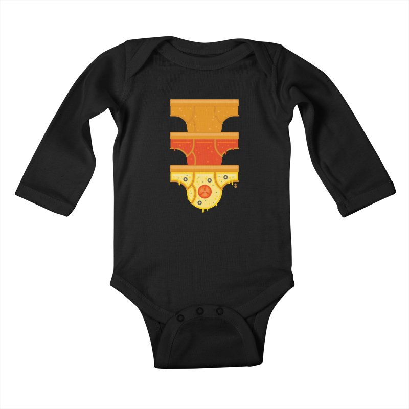 Better Than Pizza Kids Baby Longsleeve Bodysuit by Zhion T-Shop
