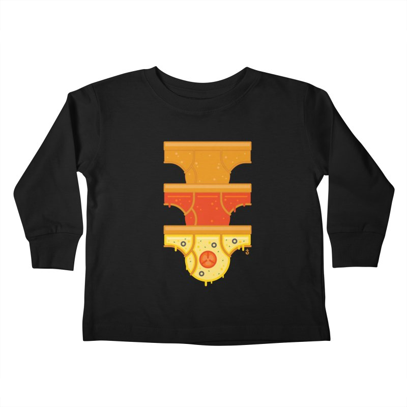Better Than Pizza Kids Toddler Longsleeve T-Shirt by Zhion T-Shop