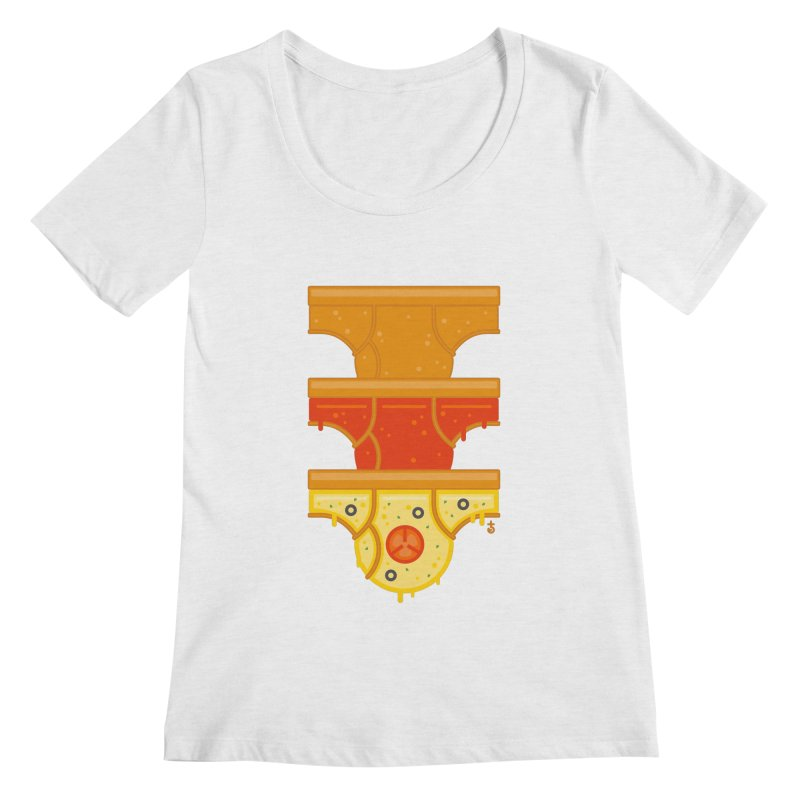 Better Than Pizza Women's Scoopneck by Zhion T-Shop