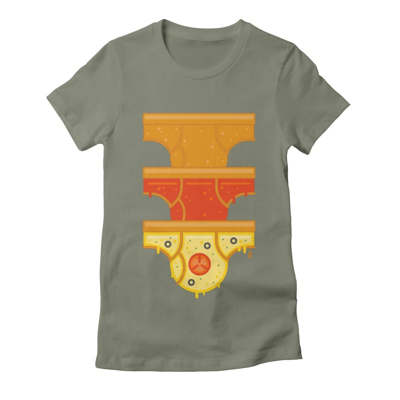 Better Than Pizza Women's Fitted T-Shirt by Zhion T-Shop