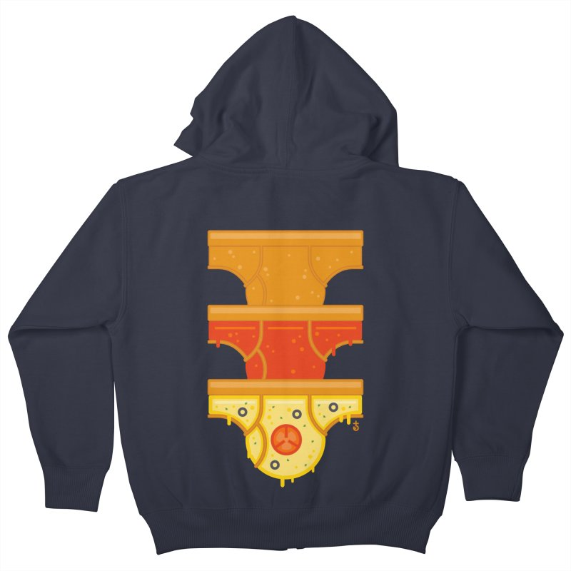 Better Than Pizza Kids Zip-Up Hoody by Zhion T-Shop