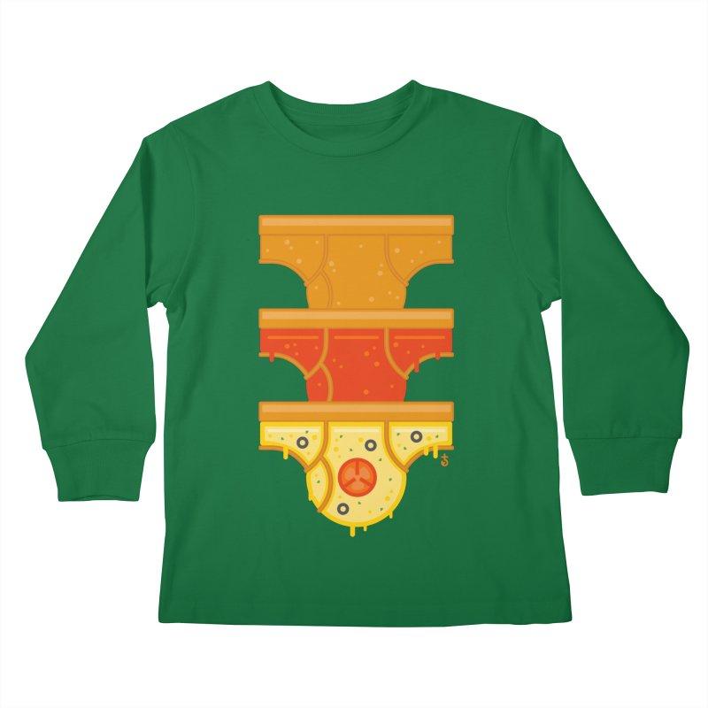 Better Than Pizza Kids Longsleeve T-Shirt by Zhion T-Shop