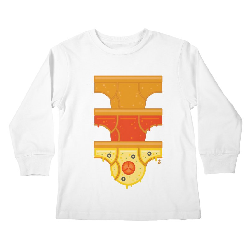 Better Than Pizza Kids Longsleeve T-Shirt by Zhion T-Shop