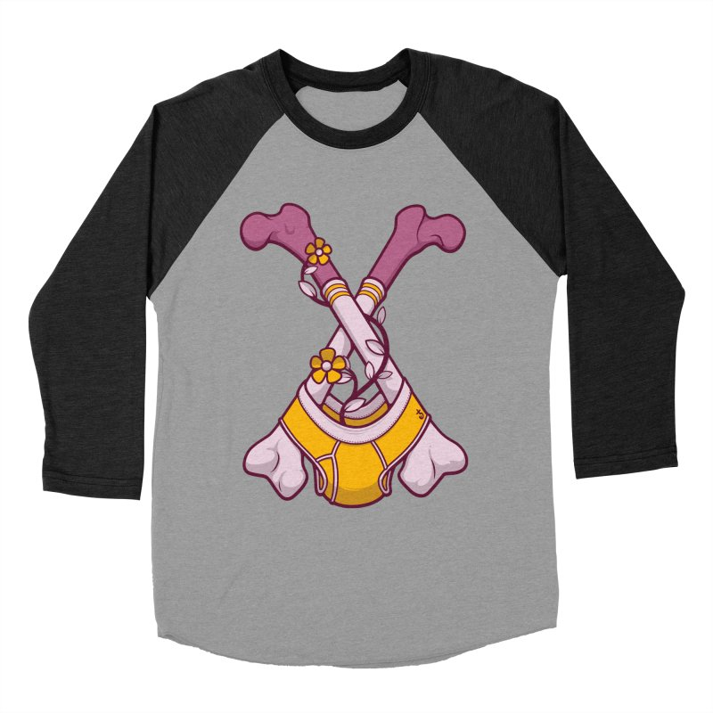Cross Bones Women's Baseball Triblend Longsleeve T-Shirt by Zhion T-Shop